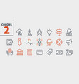 business ui pixel perfect well-crafted thin vector image vector image