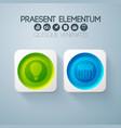 business web design elements vector image
