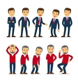 Businessman emotions vector image vector image