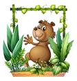 cartoon brown beaver vector image vector image