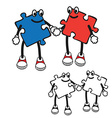 Cartoon character of puzzle vector image vector image