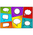 cartoon comic backgrounds set speech bubble vector image vector image