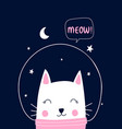 cat and space vector image