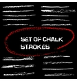 chalk lines Chalk hand drawn strokes vector image