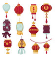 chinese paper lanterns traditional china vector image