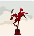 circus horse vector image vector image