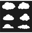 clouds collection White vector image vector image