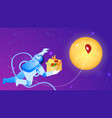 cosmic food delivery flat vector image vector image