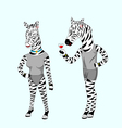 Couple zebra vector image vector image