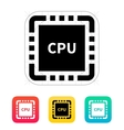 CPU with name icon vector image vector image