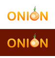 creative logotype design for trading onions vector image vector image