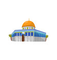 dome of the rock in jerusalem symbol of israel vector image
