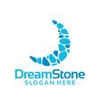 dreams stone logo concept vector image vector image