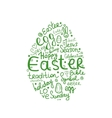 Easter egg sketch for your design vector image vector image