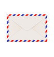 envelope backside international air mail with red vector image vector image