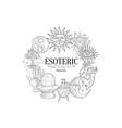 esoteric collection vintage sketch vector image vector image