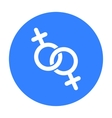 Feminine icon black Single gay icon from the big vector image