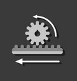 flat icon design collection during gear in vector image vector image