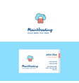 flat secure cloud logo and visiting card template vector image vector image