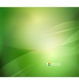 Fresh green blur wave and colors vector image