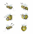 Funny Cartoon Bee vector image vector image