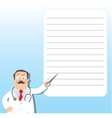 Funny doctor with pointer Design template vector image