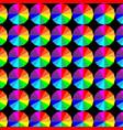 geometric circle color patterns texture design vector image