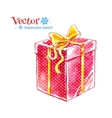 Gift box Watercolor art vector image vector image