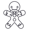 gingerman line icon sign o vector image vector image