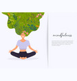 girl with flower hair in gyan mudra yoga lotus vector image