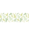 Green Christmas trees silhouettes textile vector image