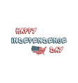 happy 4th of july independence day hand drawn vector image vector image