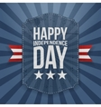 Happy Independence Day realistic Badge vector image vector image