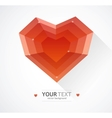 Heart flat Valentines day card background vector image