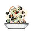 japanese food menu vegetarian set vector image vector image