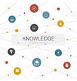 knowledge trendy web template with simple icons vector image