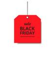 label black friday orange holiday design sale vector image vector image