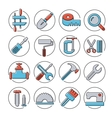Linear icons tools vector image
