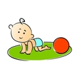 Little baby crawling on hands and knees vector image