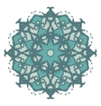 Mandala on isolated background vector image vector image