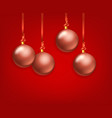 matte glass christmas baubles collection template vector image vector image