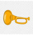 music tube icon cartoon style vector image