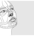 original drawing women portrait construction vector image