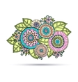 Paisley Mehndi Doodles Abstract Floral vector image