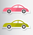 Paper Cut Cars vector image vector image