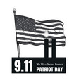 patriot day american flag stripes background vector image