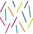 pencils colors set isolated icon vector image