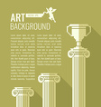 Pixel graphics background for text Column Cup vector image vector image