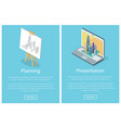 planning and presentation vector image vector image