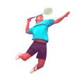 polygonal professional badminton player